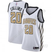 Basketball Trikot Kinder Atlanta Hawks 2019-20 John Collins 20# Weiß City Edition Swingman..