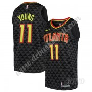 Basketball Trikot Kinder Atlanta Hawks 2019-20 Trae Young 11# Schwarz Icon Edition Swingman..
