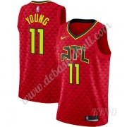 Basketball Trikot Kinder Atlanta Hawks 2019-20 Trae Young 11# Rot Statement Edition Swingman..