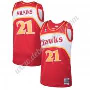 Atlanta Hawks Basketball Trikots NBA 1986-87 Dominique Wilkins 21# Rot Hardwood Classics Swingman..
