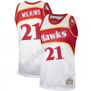 Atlanta Hawks Basketball Trikots NBA Dominique Wilkins 21# Platinum Hardwood Classics Swingman..