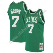 Boston Celtics Basketball Trikots NBA 1985-86 Dee Brown 7# Grün Hardwood Classics Swingman..