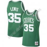 Boston Celtics Basketball Trikots NBA 1987-88 Reggie Lewis 35# Grün Hardwood Classics Swingman..