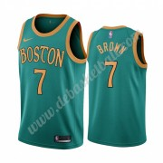 Boston Celtics Basketball Trikots NBA 2019-20 Jaylen Brown 7# Grün City Edition Swingman..