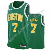 Boston Celtics Basketball Trikots NBA 2019-20 Jaylen Brown 7# Grün Earned Edition Swingman..