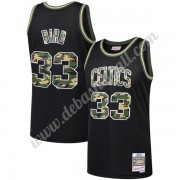 Boston Celtics Basketball Trikots NBA Larry Bird 33# Schwarz Straight Fire Camo Swingman..