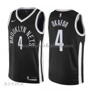 Basketball Trikot Kinder Brooklyn Nets 2018 Jahlil Okafor 4# City Swingman..