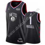 Brooklyn Nets Basketball Trikots 2019 Dangelo Russell 1# Schwarz All Star Game Swingman..