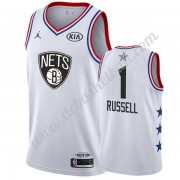 Brooklyn Nets Basketball Trikots 2019 Dangelo Russell 1# Weiß All Star Game Swingman..