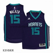 Basketball Trikot Kinder Charlotte Hornets 2015-16 Kemba Walker 15# Road Swingman..