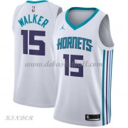 Basketball Trikot Kinder Charlotte Hornets 2018 Kemba Walker 15# Home Swingman..