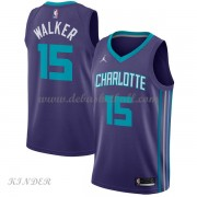 Basketball Trikot Kinder Charlotte Hornets 2018 Kemba Walker 15# Alternate Swingman..