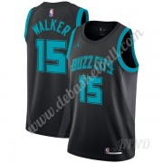 Basketball Trikot Kinder Charlotte Hornets 2019-20 Kemba Walker 15# Schwarz City Edition Swingman..