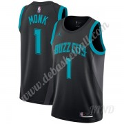 Basketball Trikot Kinder Charlotte Hornets 2019-20 Malik Monk 1# Schwarz City Edition Swingman..