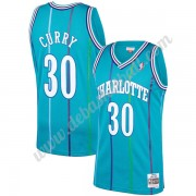 Charlotte Hornets Basketball Trikots NBA 1992-93 Dell Curry 30# Blaugrün Hardwood Classics Swingman..
