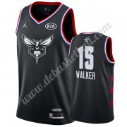 Charlotte Hornets Basketball Trikots 2019 Kemba Walker 15# Schwarz All Star Game Swingman..