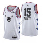 Charlotte Hornets Basketball Trikots 2019 Kemba Walker 15# Weiß All Star Game Swingman..