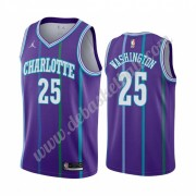 Charlotte Hornets Basketball Trikots NBA 2019-20 P. J. Washington 25# Lila Classics Edition Swingman..