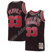 Basketball Trikot Kinder Chicago Bulls 1995-96 Scottie Pippen 33# Schwarz Hardwood Classics Swingman..