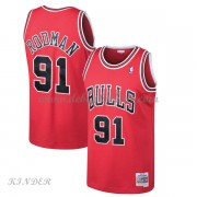 Basketball Trikot Kinder Chicago Bulls Kids 1997-98 Dennis Rodman 91# Red Hardwood Classics Swingman..