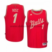 Herren Chicago Bulls 2015 Derrick Rose 1# NBA Christmas Wars Basketball Swingman Trikot..