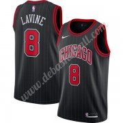 Chicago Bulls Basketball Trikots NBA 2019-20 Zach Lavine 8# Schwarz Finished Statement Edition Swing..