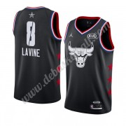 Chicago Bulls Basketball Trikots 2019 Zach Lavine 8# Schwarz All Star Game Swingman..