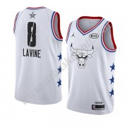 Chicago Bulls Basketball Trikots 2019 Zach Lavine 8# Weiß All Star Game Swingman..