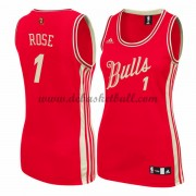Chicago Bulls Damen Basketball Trikots 2015 Derrick Rose 1# NBA Weihnachten Trikot Swingman ..