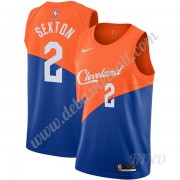 Basketball Trikot Kinder Cleveland Cavaliers 2019-20 Collin Sexton 2# Blau City Edition Swingman..