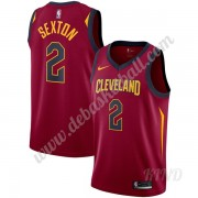 Basketball Trikot Kinder Cleveland Cavaliers 2019-20 Collin Sexton 2# Wein Icon Edition Swingman..
