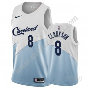 Basketball Trikot Kinder Cleveland Cavaliers 2019-20 Jordan Clarkson 8# Weiß Earned Edition Swingman..