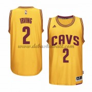 Cleveland Cavaliers Basketball Trikots 2015-16 Kyrie Irving 2# Gold Alternate Trikot Swingman