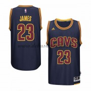 Herren Cleveland Cavaliers NBA 2015-16 LeBron James 23# Navy Alternate Basketball Swingman Trikot..