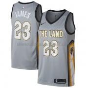 fb7ea3de655 Cleveland Cavaliers Basketball Trikots 2018 LeBron James 23# City Swingman.