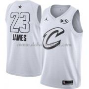 Cleveland Cavaliers Basketball Trikots LeBron James 23# White 2018 All Star Game Swingman..