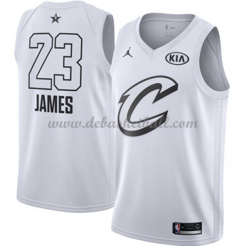 0d286ab6a15d Cleveland Cavaliers Basketball Trikots LeBron James 23  White 2018 All Star  Game Swingman