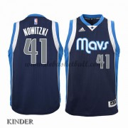 Basketball Trikot Kinder Dallas Mavericks 2015-16 Dirk Nowitzki 41# Alternate Swingman..