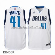 Basketball Trikot Kinder Dallas Mavericks 2015-16 Dirk Nowitzki 41# Home Swingman..
