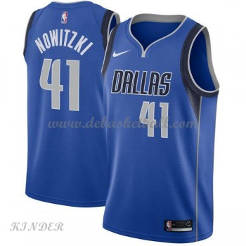 Basketball Trikot Kinder Dallas Mavericks 2018 Dirk Nowitzki 41# Road Swingman