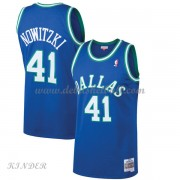 Basketball Trikot Kinder Dallas Mavericks Kids 1998-99 Dirk Nowitzki 41# Blue Hardwood Classics Swin..