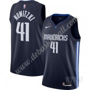 Basketball Trikot Kinder Dallas Mavericks 2019-20 Dirk Nowitzki 41# Marine Finished Statement Editio..