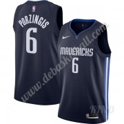 Basketball Trikot Kinder Dallas Mavericks 2019-20 Kristaps Porzingis 6# Marine Finished Statement Ed..