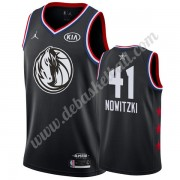 Dallas Mavericks Basketball Trikots 2019 Dirk Nowitzki 41# Schwarz All Star Game Swingman..