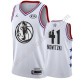 Dallas Mavericks Basketball Trikots 2019 Dirk Nowitzki 41# Weiß All Star Game Swingman