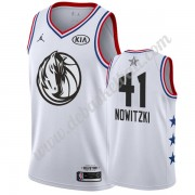 Dallas Mavericks Basketball Trikots 2019 Dirk Nowitzki 41# Weiß All Star Game Swingman..