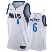 Dallas Mavericks Basketball Trikots NBA 2019-20 Kristaps Porzingis 6# Weiß Association Edition Swing..