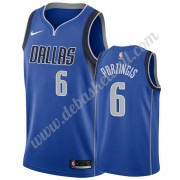 Dallas Mavericks Basketball Trikots NBA 2019-20 Kristaps Porzingis 6# Blau Icon Edition Swingman..