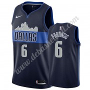 Dallas Mavericks Basketball Trikots NBA 2019-20 Kristaps Porzingis 6# Marine Statement Edition Swing..