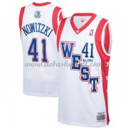 Dallas Mavericks Basketball Trikots Dirk Nowitzki 41# White 2004 All Star Hardwood Classics Swingman..